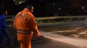 MC Kresha në rolin e pastruesit të rrugëve