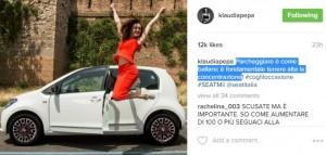 """Klaudia Pepa imazh i veturës """"Seat"""""""