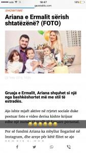 Ariana Fejzullahu reagon pas thashetheme se është shtatzënë!