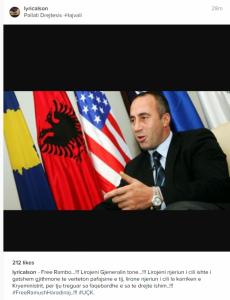 Lyrical Son: Lirojeni Ramush Haradinaj