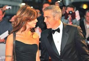 Clooney dhe Elisabetta bashke ne tapetin e kuq