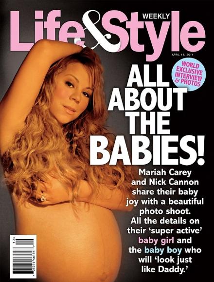 Mariah Carey pozon nudo edhe shtatëzënë