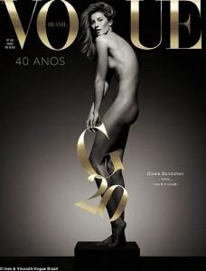 Gisele Bundchen i thotë lamtumirë modës nudo në kopertinën e Vogue