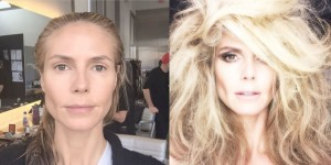 Heidi Klum duket fantastike pa make-up
