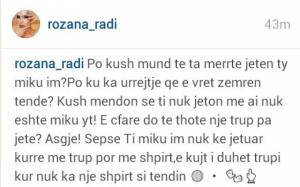Rozana Radi mesazh prekëse për Begun