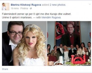 Blerina dhe Mendimi festojnë 8 vjetorin e martesës