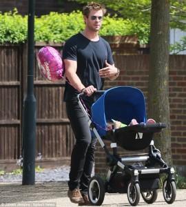 Chris Hemsworth një baba shëmbullor