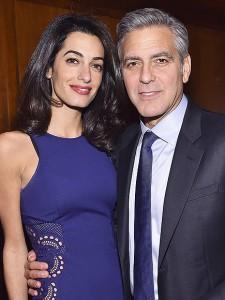 Clooney i lumtur  me Amal Clooney