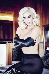 Kim Kardashian në stilin e Marilyn Monroe