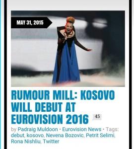 Kosova në Eurovision 2016