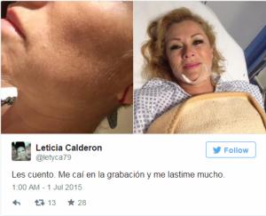 Leticia Calderon përfundon në spital