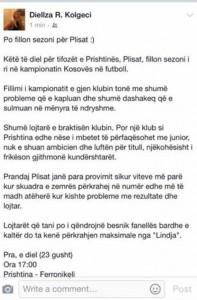 Djellza shkruan për 'Plisat', ja çka thotë ajo?!