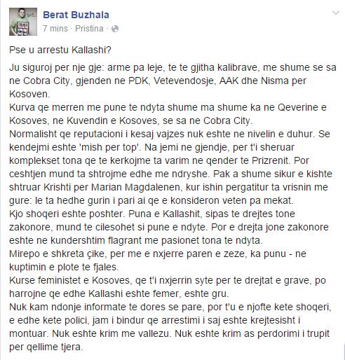 """Buzhala e """"mbron"""" Kallashin"""