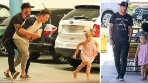 Beckham i lumtur me fëmijët e tij