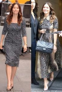 Jessica Biel ndryshon stilin e veshjes pas lindjes