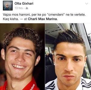 Ronaldo i përgjigjet Olta Gixharit?