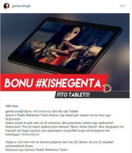 Genta Ismajli me lojë shpërblyese për fansat që dërgojnë video