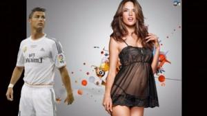 Ronaldo në krahët e Alessandra Ambrosio