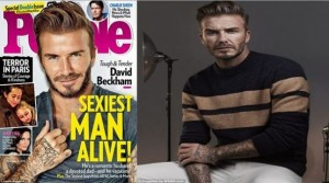 """Beckham shpallet """"Mashkulli më seksi"""" i vitit"""