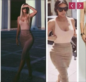 Lori Hoxha kopjon Kim Kardashian