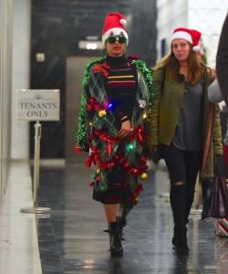 Beyonce si një pemë Krishtlindjesh