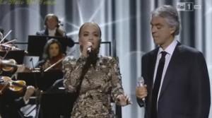 Rita Ora dhe Andrea Bocelli ''ndezin''publikun italian