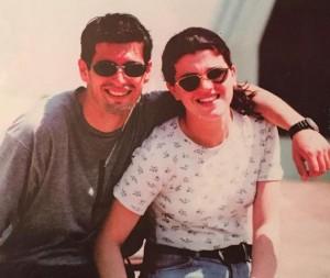 Edona Llalloshi dhe Donat Qosja bashkë në 1996