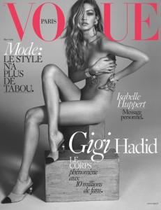 Gigi Hadid pozon nudo