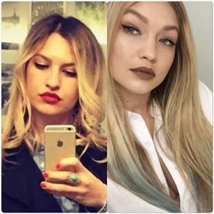 Gruaja e Blerand Stavileci identike me modelen Gigi Dadid