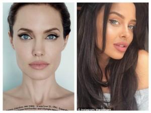 Kopja e Angelina Jolie i ka çmendur të gjithë