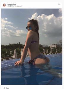 Françeska Jaçe provokon nga pishina