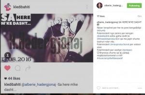 Po vjen Albërie Hadërgjonaj me këngën e saj më të re