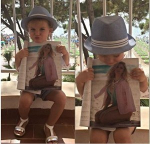 Vajza e Ledina Çelos i bën reklamë mamasë së saj