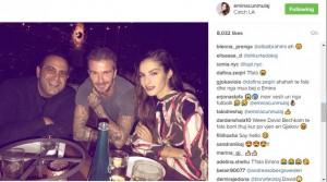 Emina Cunmulaj darkon me David Beckham