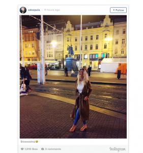 Adea Pula seksi edhe në rrugët e Zagrebit