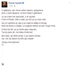 Fisnik Ismaili iu bënë diss reperave Noizy dhe Cozman