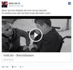 Edhe Gold AG ka diçka për të thënë për incidentin Noizy-Cozman?
