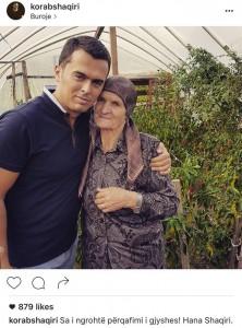 Korab Shaqiri prezanton gjyshen