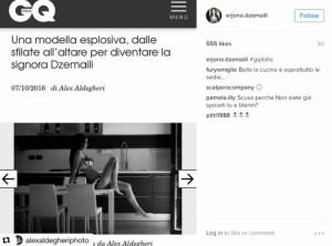 Erjona, gruaja seksi e Blerim Xhemailit në 'GQ' - Itali