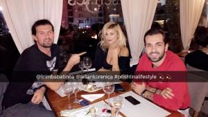 Luana në Prishtinë: Darkon me dy meshkuj!