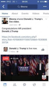 Bleona Qereti uron Donald Trumpin